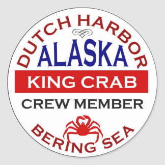 Dutch Harbour Alaskan King Crab Crew Member Round Sticker
