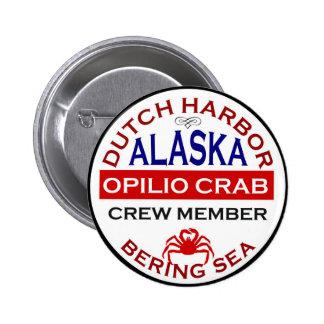 Dutch Harbour Opilio Crab Crew Member 6 Cm Round Badge