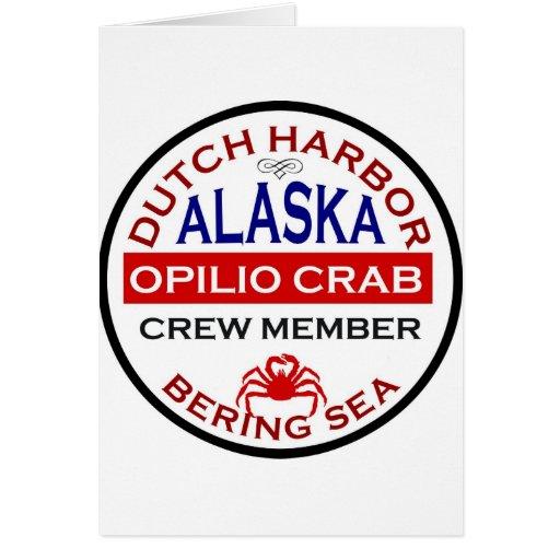 Dutch Harbour Opilio Crab Crew Member Greeting Card