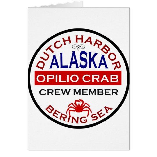 Dutch Harbour Opilio Crab Crew Member Card