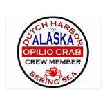 Dutch Harbour Opilio Crab Crew Member Postcards
