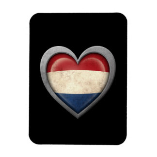 Dutch Heart Flag with Metal Effect Vinyl Magnets