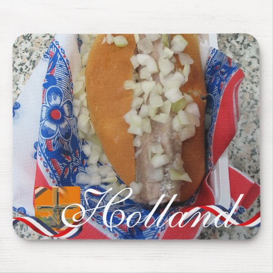 Dutch Herring Holland Text Souvenir Mousepad