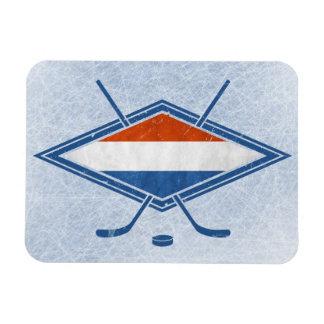 Dutch Hockey Flag Logo Flexible Magnets