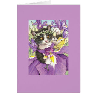 Dutch Iris Kitten Blank Note Card