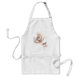Dutch Kids, Cat and Spooky Shadows Standard Apron