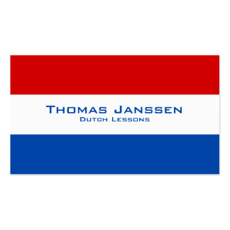 Dutch Lessons / Dutch Teacher With Dutch Flag Pack Of Standard Business Cards