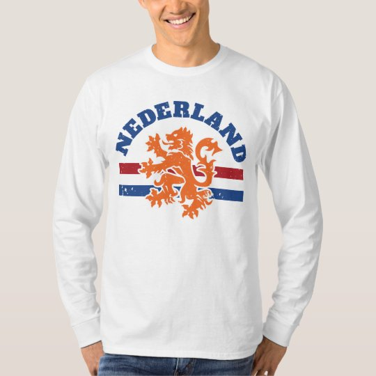 Dutch Lion and Flag of Netherlands T-Shirt