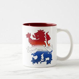 Dutch lion Netherlands flag gear Two-Tone Coffee Mug