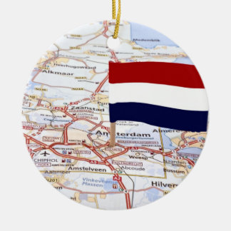 Dutch map and the dutch flag christmas ornaments