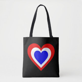 Dutch/Netherlands Heart flag-inspired Tote Bag