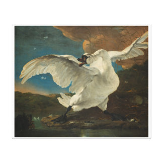 Dutch painting Asselijn Swan Canvas Print