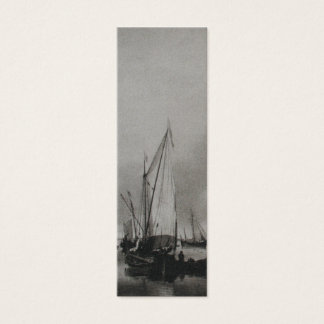 Dutch Painting Boats on Sea Holland Bookmark Mini Business Card