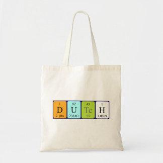 Dutch periodic table patriotic tote bag