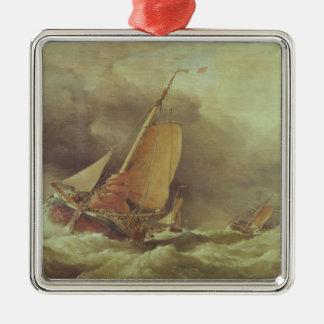 Dutch Pincks Running to Anchor off Yarmouth Christmas Ornament