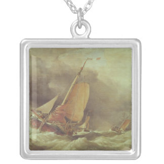 Dutch Pincks Running to Anchor off Yarmouth Silver Plated Necklace