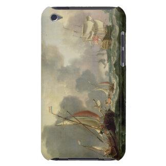 Dutch Pinks and a British Frigate in Choppy Seas iPod Case-Mate Cases