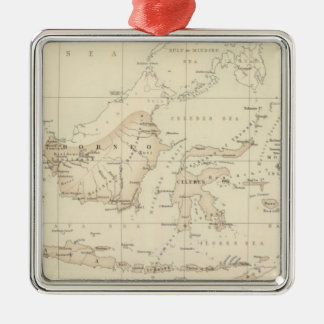 Dutch Possessions in the Indian Archipelago Silver-Colored Square Decoration
