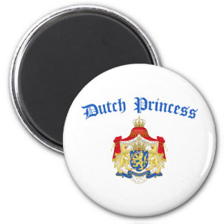 Dutch Princess (Holland Coat of Arms) 6 Cm Round Magnet