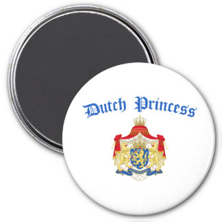 Dutch Princess (Holland Coat of Arms) 7.5 Cm Round Magnet