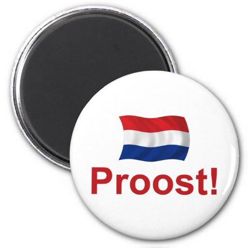 Dutch Proost! 6 Cm Round Magnet