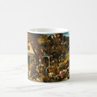 Dutch Proverbs by Pieter Bruegel the Elder Basic White Mug