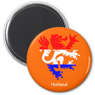 Dutch Queen's day 6 Cm Round Magnet