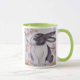 Dutch Rabbit & Cherry Blossom Mug - So Cute!
