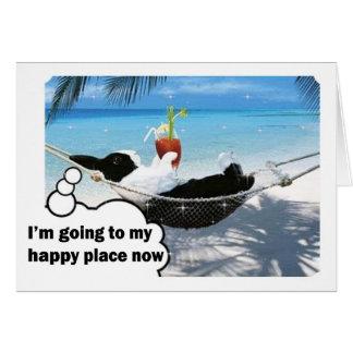 Dutch rabbit in happy place card