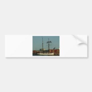 Dutch Schooner In Danish Harbor Bumper Sticker