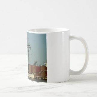 Dutch Schooner In Danish Harbor Coffee Mug