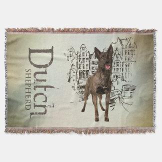 Dutch Shepherd dog - Dutchie -Hollandse  Herder Throw Blanket