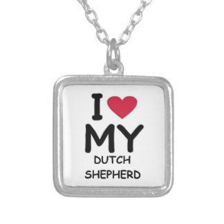 dutch shepherd love silver plated necklace