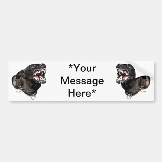Dutch Shepherd Police Dog bumpersticker Bumper Sticker