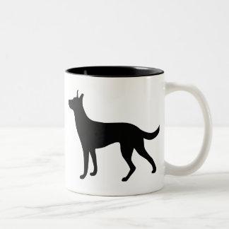 Dutch Shepherd Two-Tone Coffee Mug