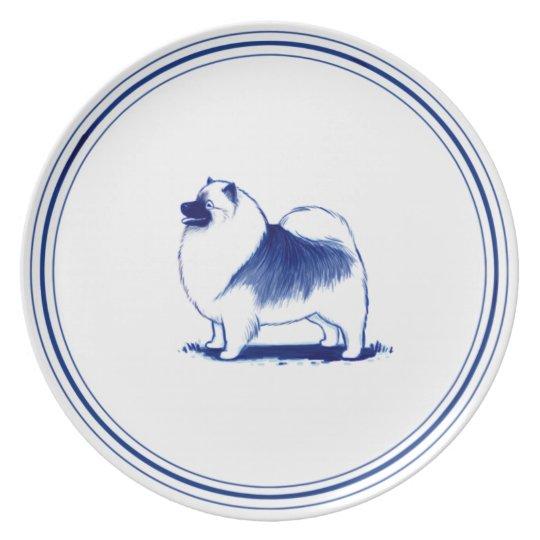 Dutch Style Keeshond Plate