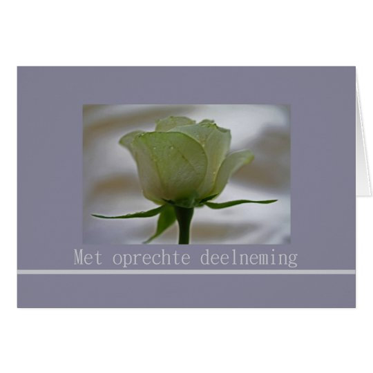 Dutch sympathy - oprechte deelneming card