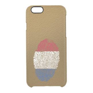 Dutch touch fingerprint flag clear iPhone 6/6S case