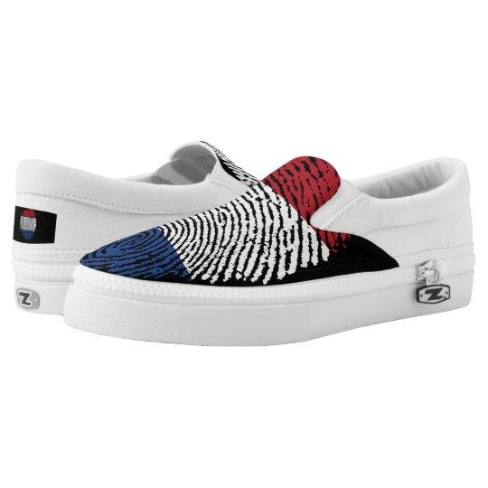 Dutch touch fingerprint flag Slip-On shoes