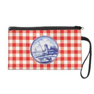Dutch traditional blue tile wristlet purses