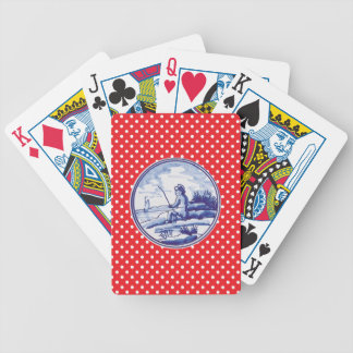 Dutch traditional blue tile bicycle card decks
