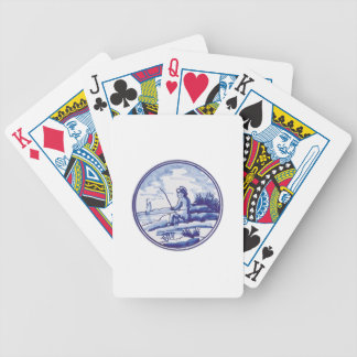 Dutch traditional blue tile bicycle poker cards