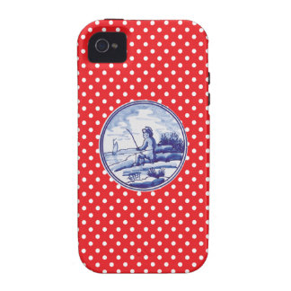 Dutch traditional blue tile vibe iPhone 4 case
