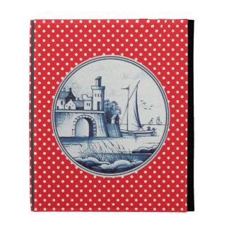 Dutch traditional blue tile iPad folio covers