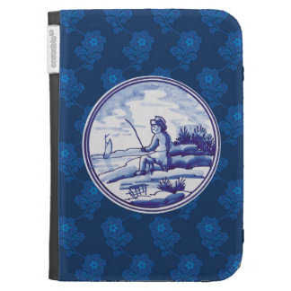 Dutch traditional blue tile cases for the kindle
