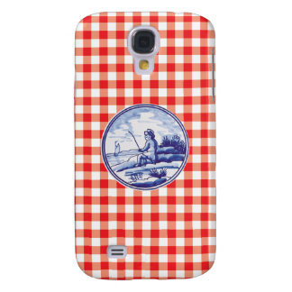Dutch traditional blue tile galaxy s4 cover