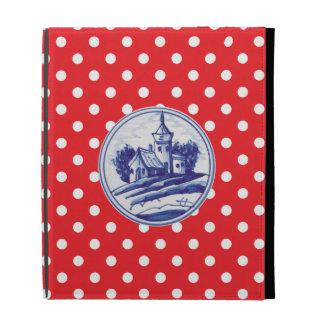 Dutch traditional blue tile iPad folio cases
