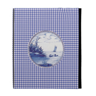 Dutch traditional blue tile iPad case