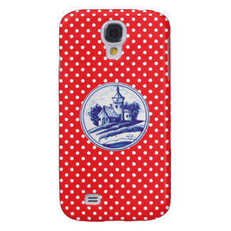 Dutch traditional blue tile samsung galaxy s4 cover