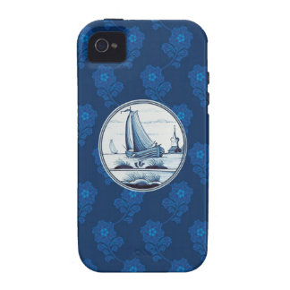 Dutch traditional blue tile vibe iPhone 4 cover